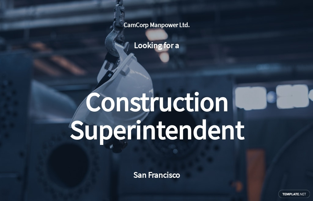 Construction Superintendent Job Ad and Description Template