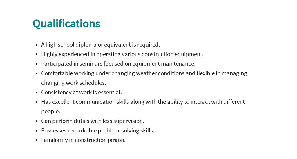 Free Construction Equipment Operator Job Ad and Description Template 5.jpe