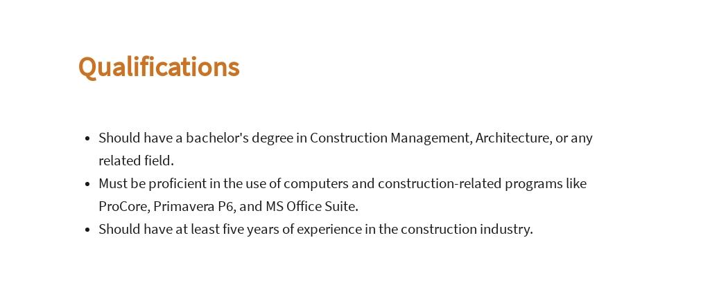 Free Construction Site Manager Job Description Template 5.jpe
