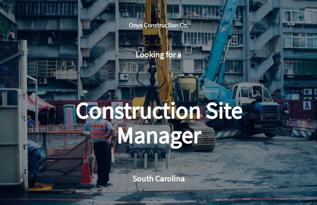 Free Construction Site Manager Job Description Template.jpe