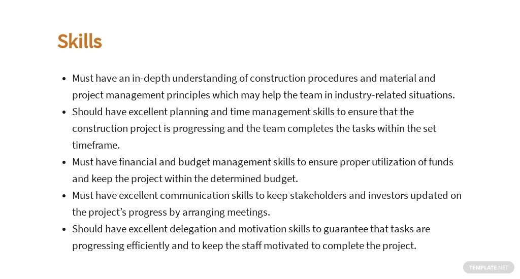 Free Construction Project Manager Job Ad and Description Template 4.jpe