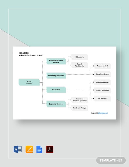 Free Sample Complex Organizational Chart Template