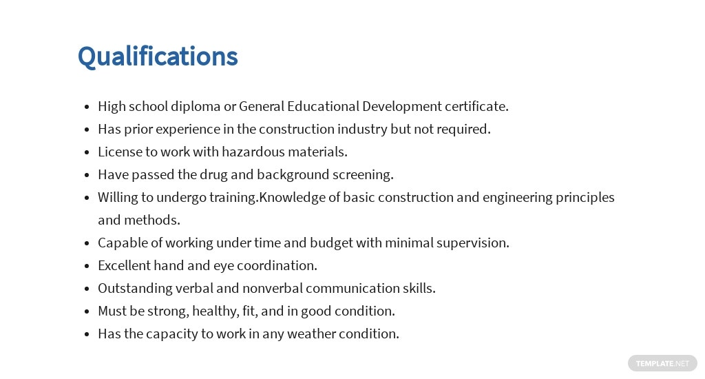 Free Construction Worker Job Ad and Description Template 5.jpe