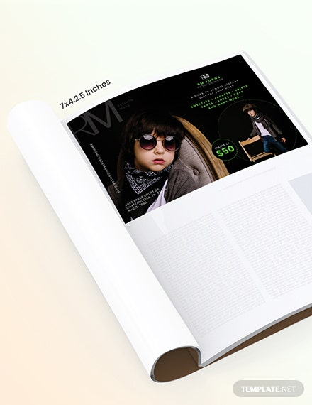 Back to School Magazine Ads Template