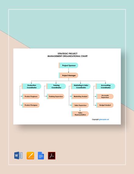 Free Strategic Project Management Organizational Chart Template