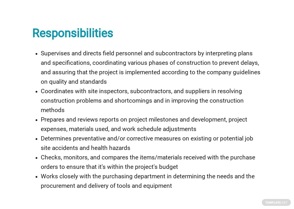 Free Construction Safety Manager Job Description Template 3.jpe