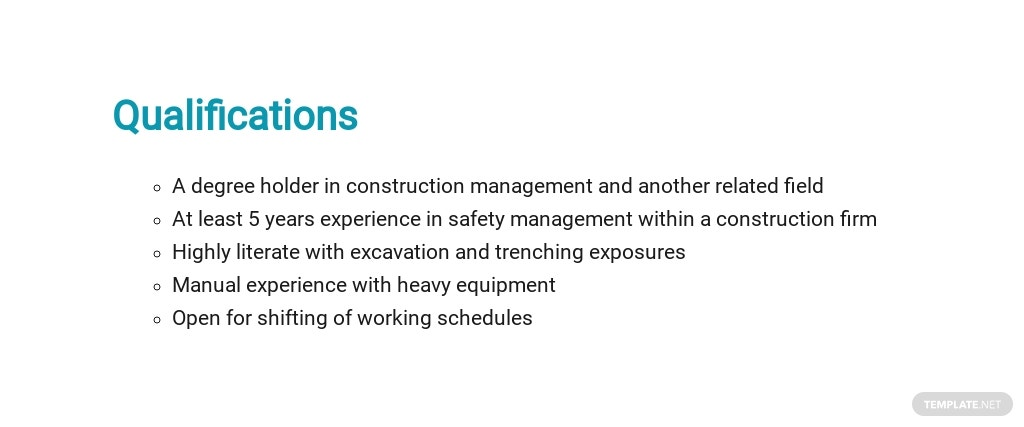 Free Construction Safety Manager Job Description Template 5.jpe