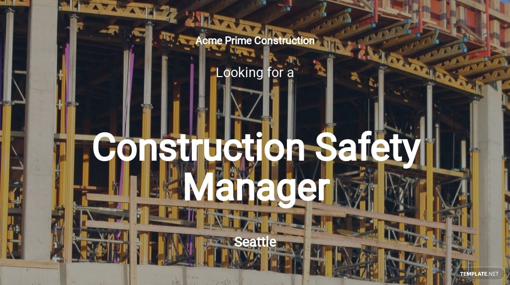 Construction Safety Manager Job Description Template