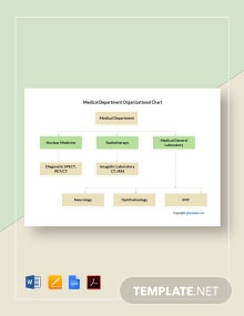 Free Medical Department Organizational Chart Template
