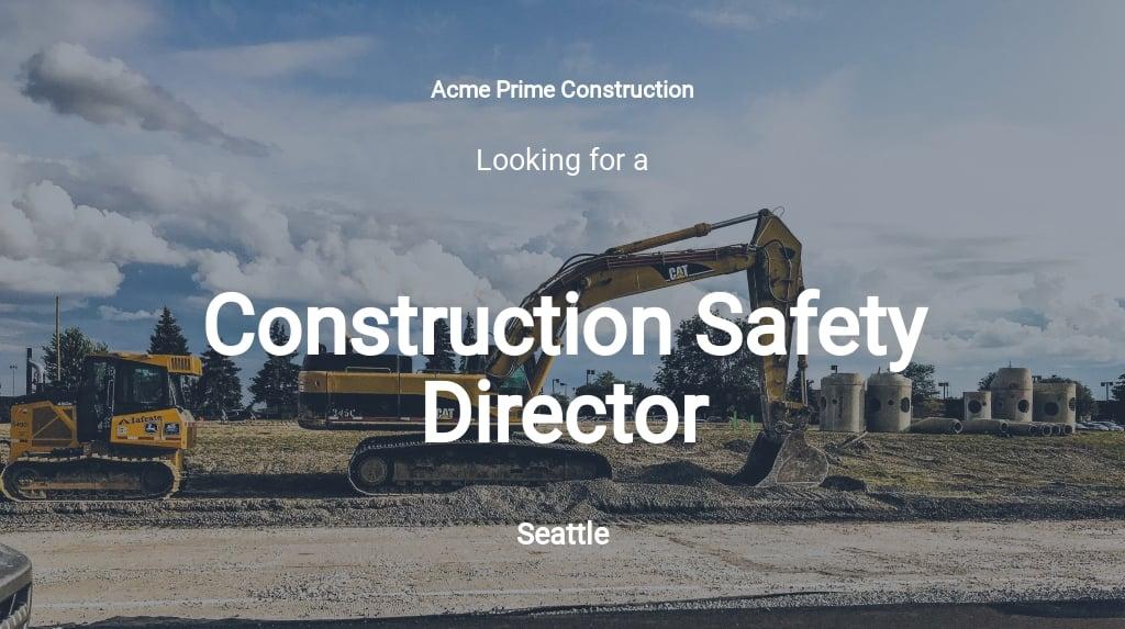 Construction Safety Director Job Description Template