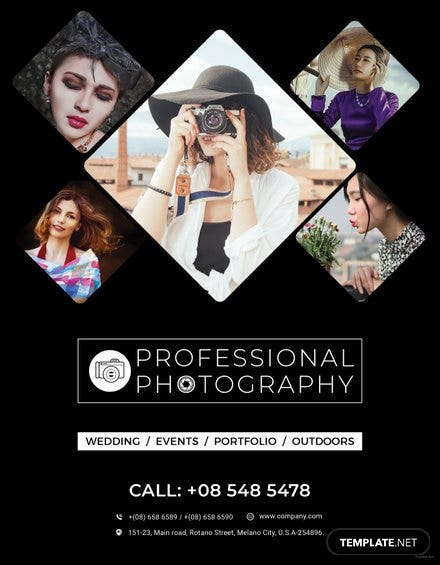 Free Photography Flyer Templates Download Ready Made Template