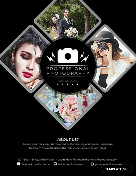 modern photography flyer template 1x