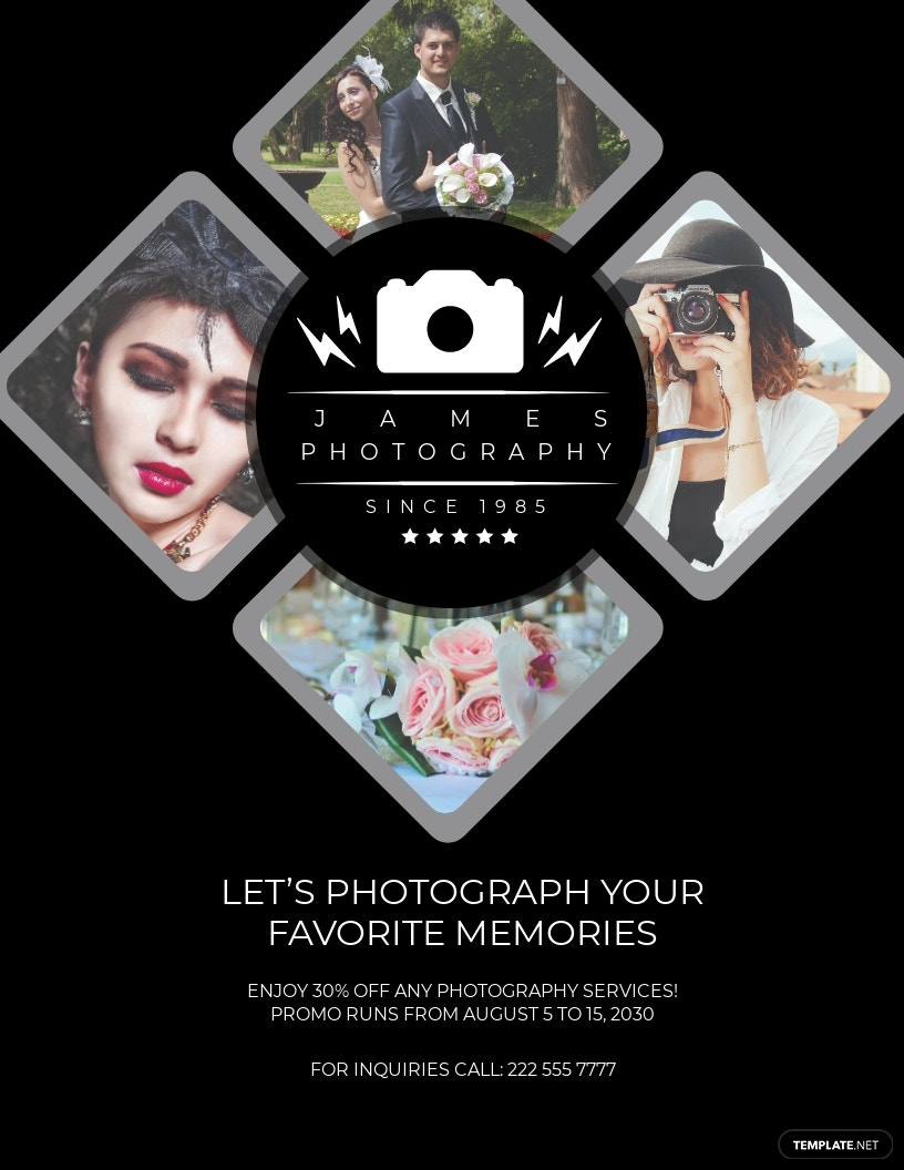 Modern Photography Flyer Template [Free JPG] - Illustrator, InDesign, Word, Apple Pages, PSD, Publisher