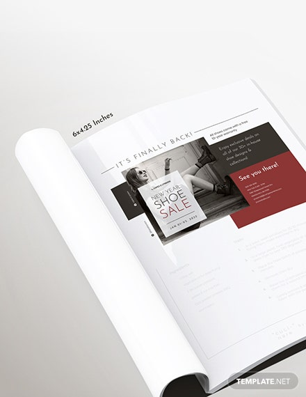 Basic Fashion Magazine Ads Template
