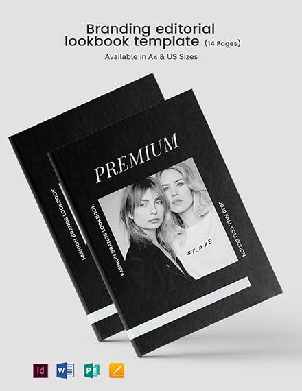 Branding Editorial Lookbook Template