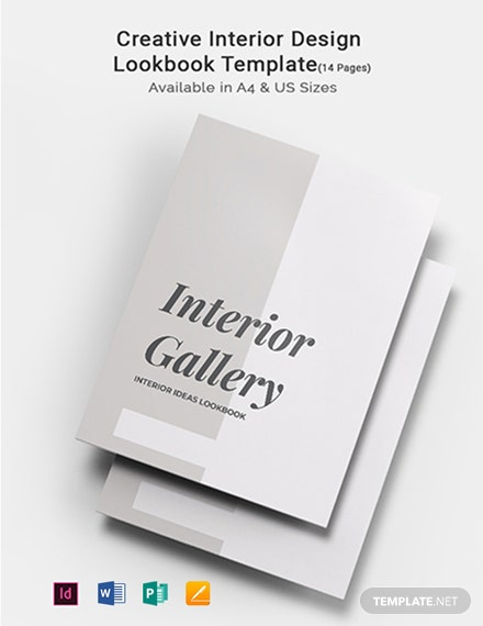 Creative Interior Design Lookbook Template