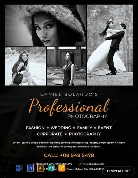 Professional Photography Flyer ~ Flyer Templates ... |Photography Business Flyer Ideas