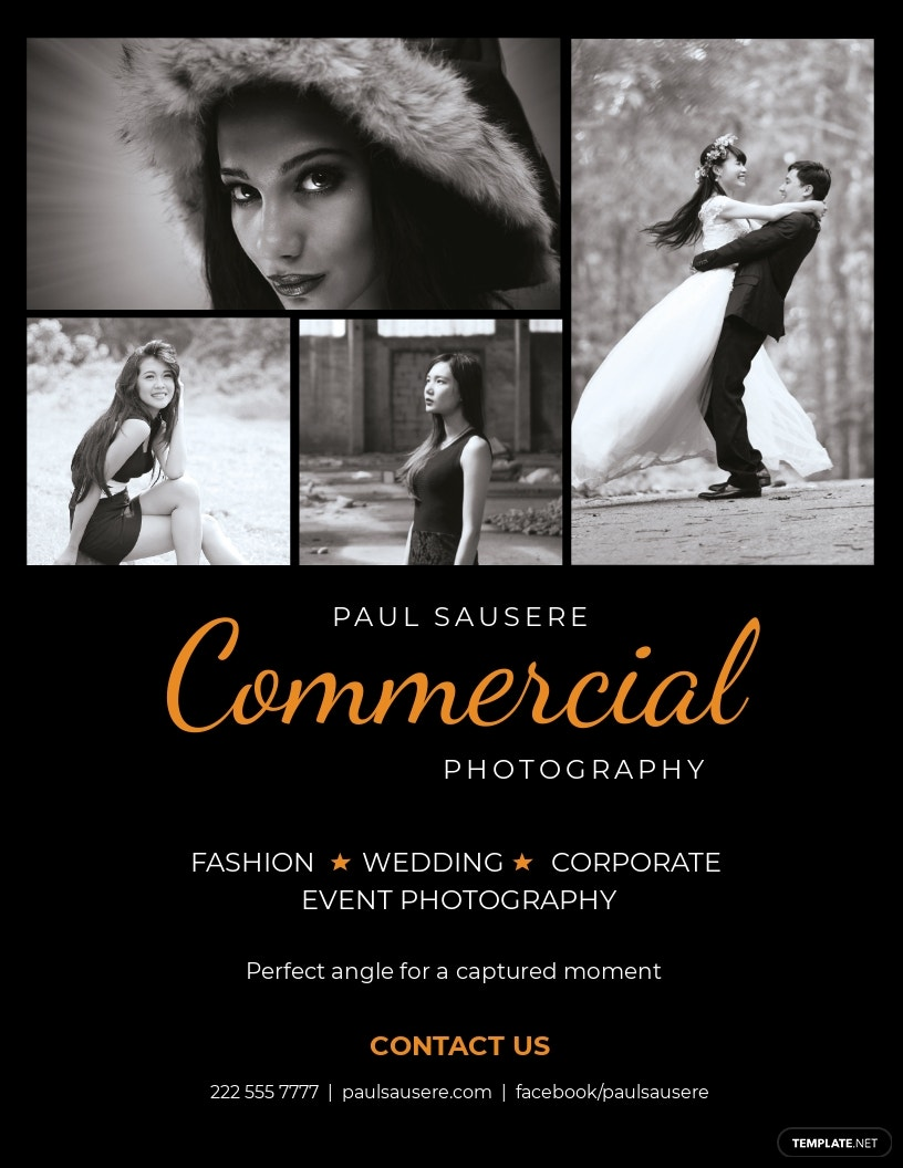 Commercial Photography Flyer Template