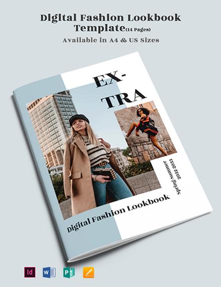 Digital Fashion Lookbook Template