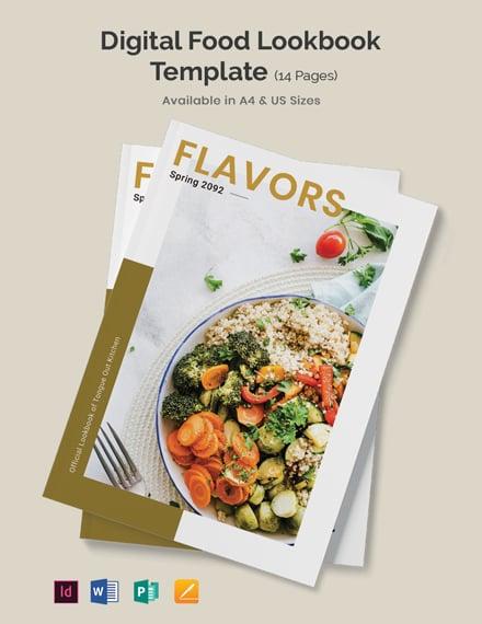 Digital Food Lookbook Template
