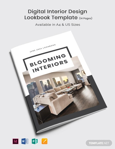Digital Interior Design Lookbook Template