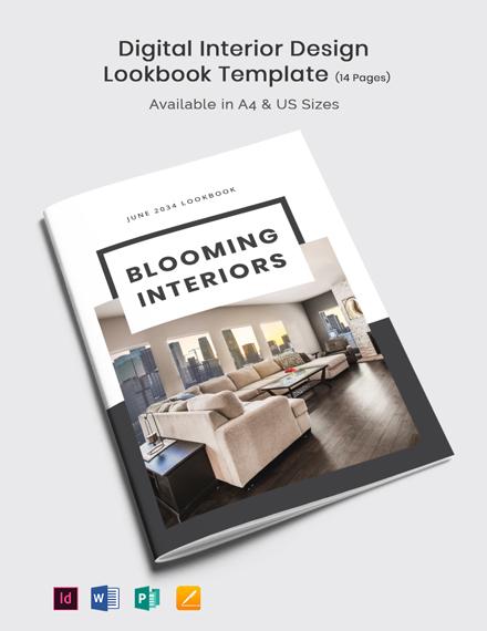 Digital Interior Design Lookbook Template