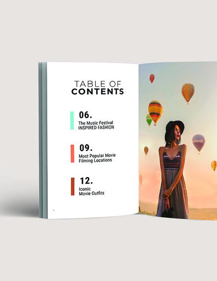Digital Lifestyle Lookbook Template