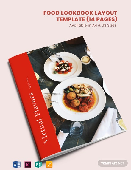 Food Lookbook Layout Template