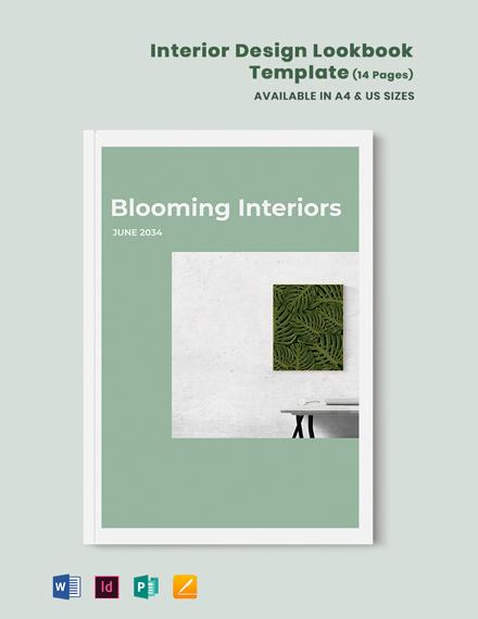 Interior Design Lookbook Template