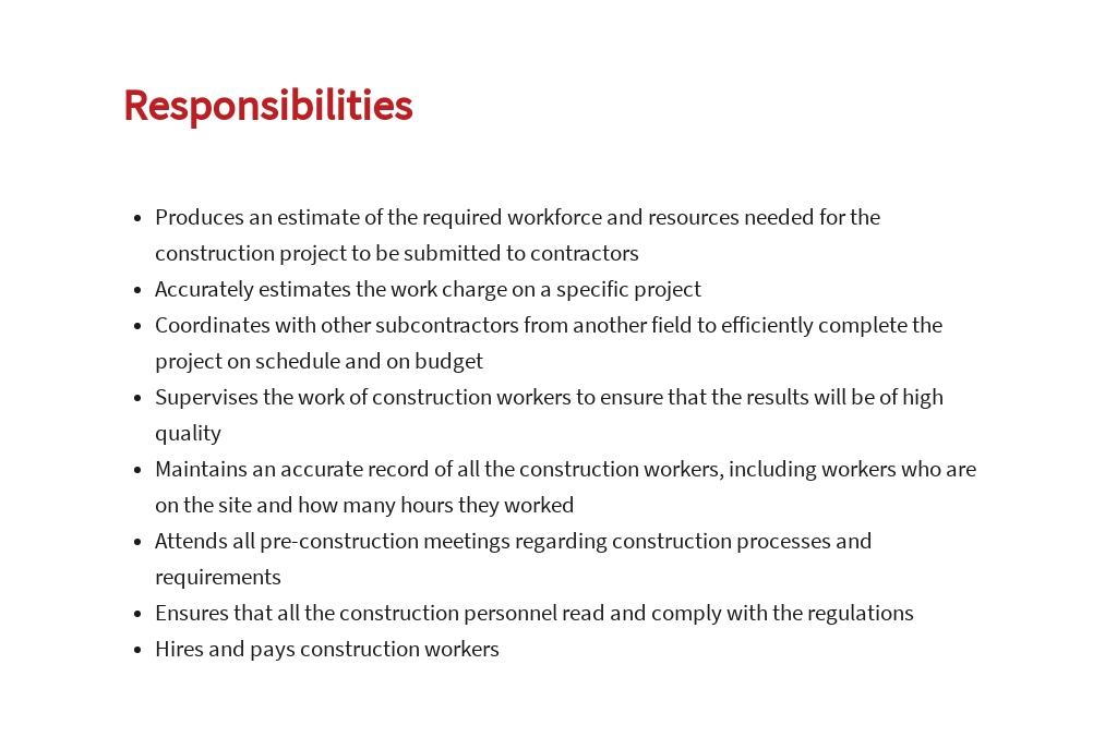 Free Construction Subcontractor Job Ad/Description Template 3.jpe