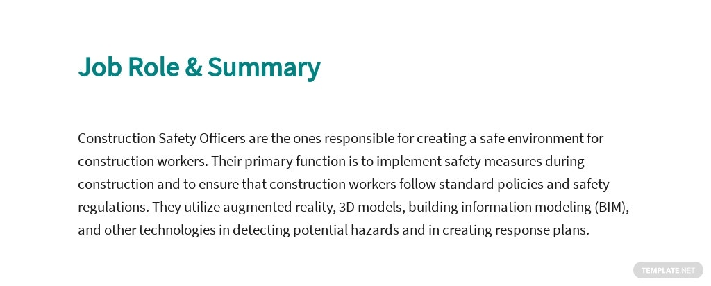 Free Construction Safety Officer Job Ad and Description Template 2.jpe