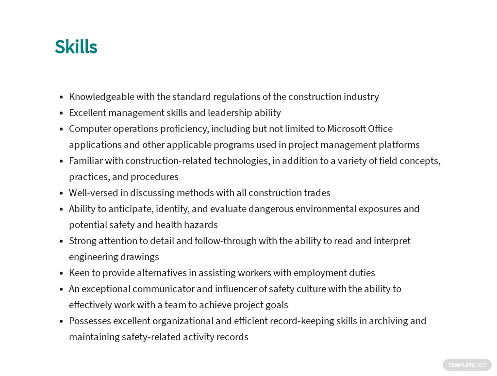 Free Construction Safety Officer Job Ad and Description Template 4.jpe