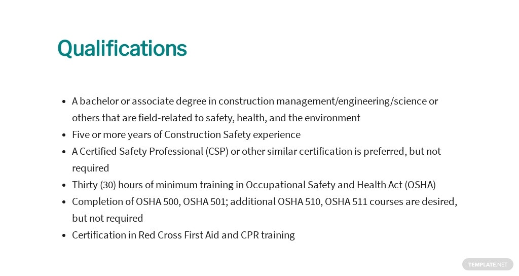 Free Construction Safety Officer Job Ad and Description Template 5.jpe