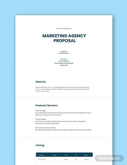Free Agency Proposal Template