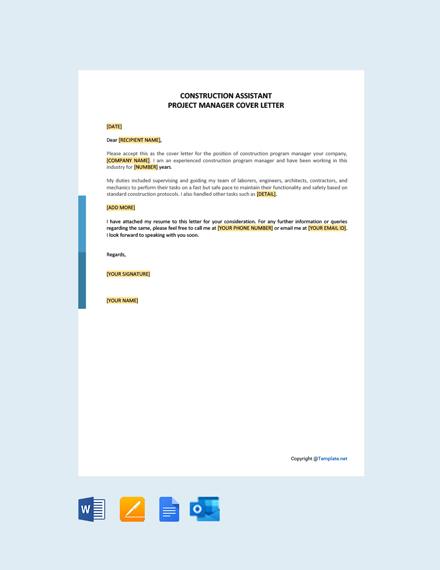 Free Construction Program Manager Job Description Template
