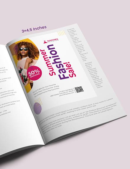 Creative Magazine Ad Template
