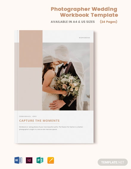 Photographer Wedding Workbook Template