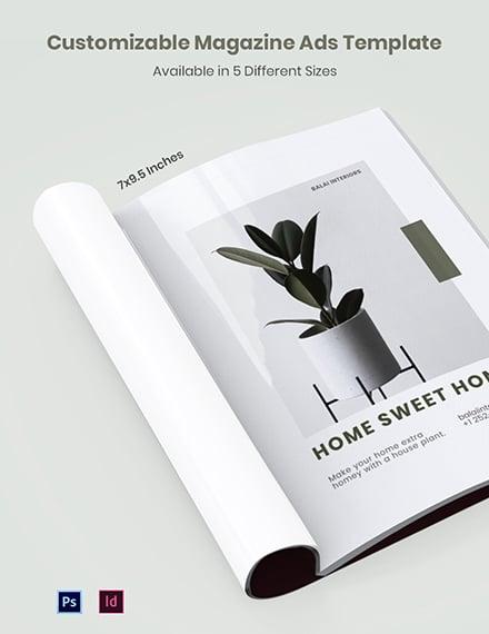 Free Customizable Magazine Ads Template