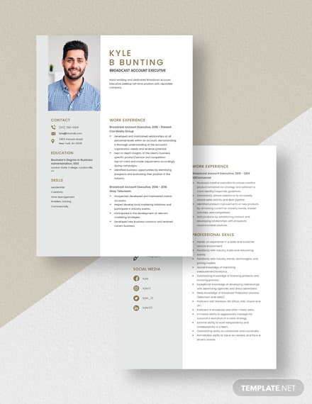 Broadcast Account Executive Resume Download