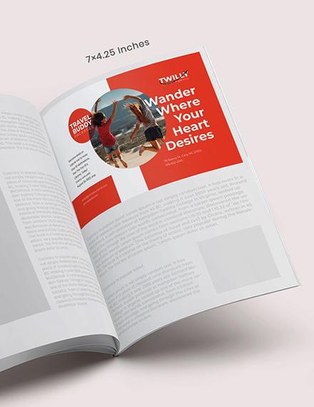 Customizable Travel Magazine Ad Format