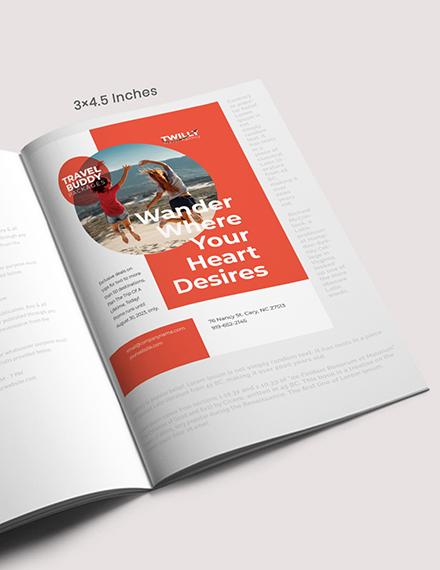 Customizable Travel Magazine Ad Template