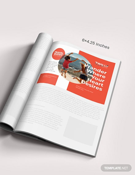 Sample Customizable Travel Magazine Ad