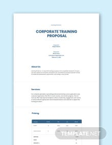 Free Corporate Training Proposal Template