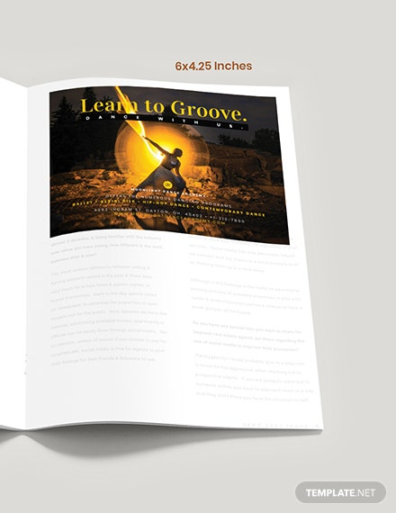 Dance School Magazine Ad Format