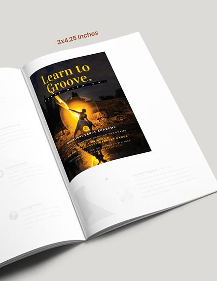 Dance School Magazine Ad Example