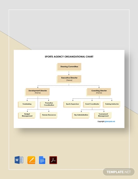 Free Sports Agency Organizational Chart Template