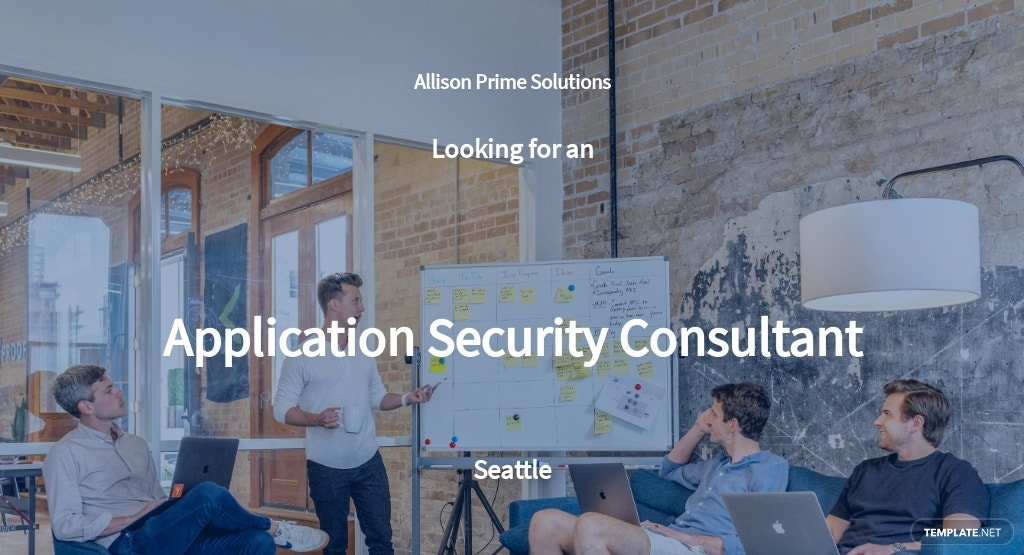 Application Security Consultant Job Description Template