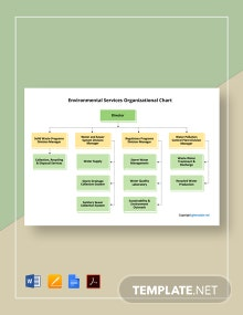 Free Environmental Services Organizational Chart Template