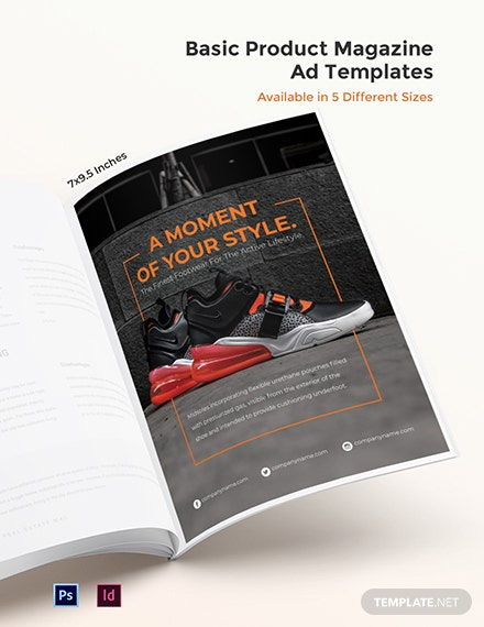 Free Basic Product Magazine Ads Template