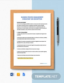 Free BPM Consultant Job Ad/Description Template